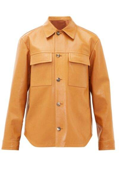 Men Leather Shirt