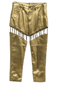 Golden Leather Pant for Women - Indian Leather Manufacturer