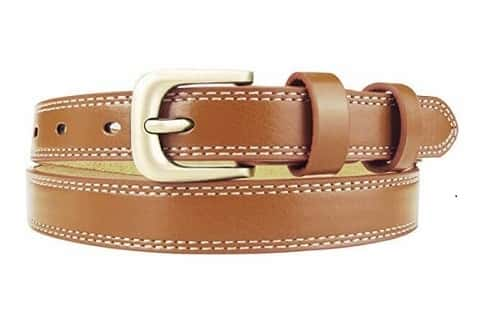 Stitched-Leather-Belt