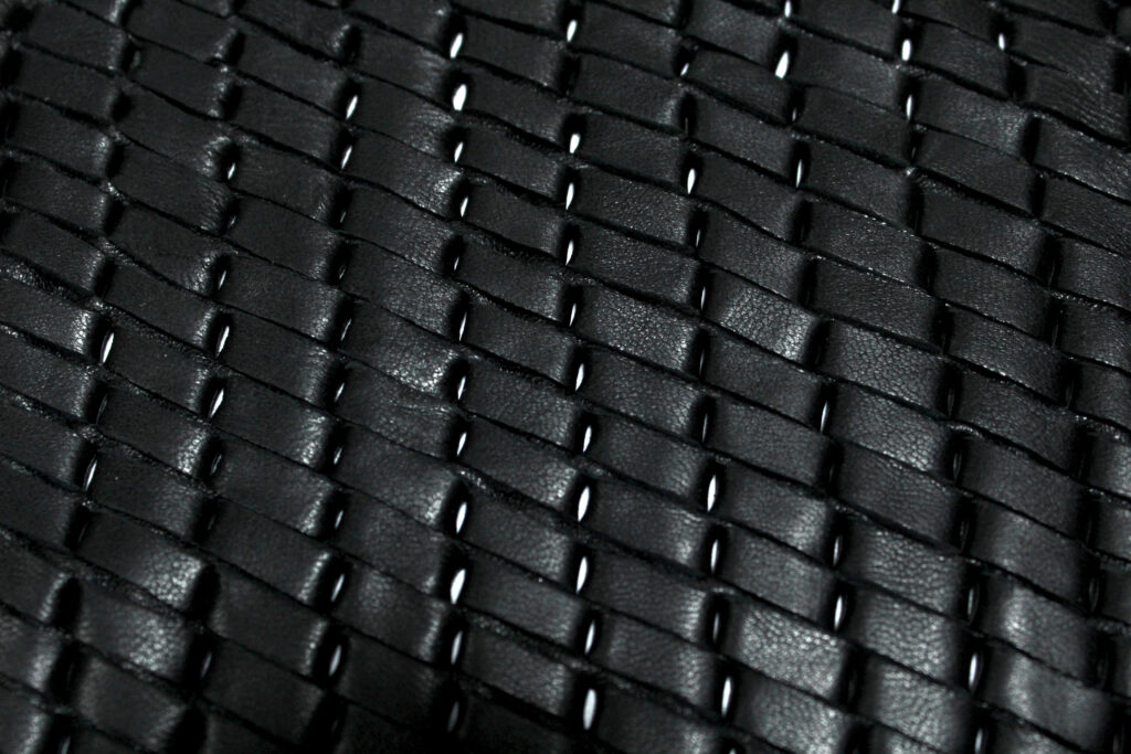 Black Leather Woven Pattern