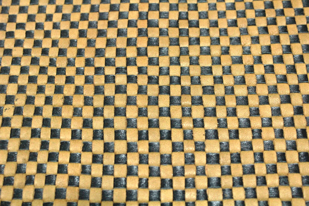 Black-Brown Woven Leather Pattern