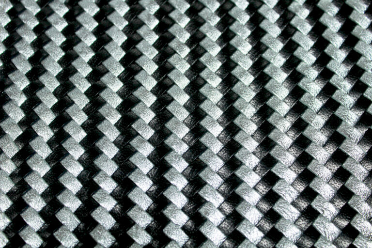 Silver-Black Woven Leather Pattern