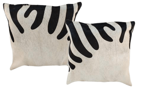 ZEBRA COW HIDE PILLOW- INDIAN LEATHER MANUFACTURER