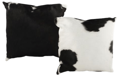 BLACK AND WHITE COW HIDE PILLOW MANUFACTURER- INDIAN LEATHER MANUFACTURER