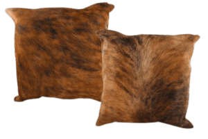 BRINDLE COW HIDE PILLOW MANUFACTURER- INDIAN LEATHER MANUFACTURER
