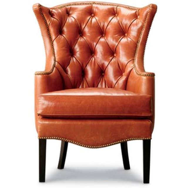 CHESTER FIELD WING BACK CHAIR- INDIAN LEATHER MANUFACTURER