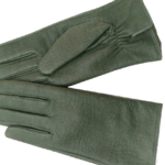 Green leather gloves- INDIAN LEATHER MANUFACTURER