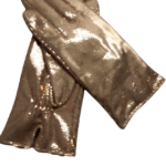 Gold foil leather gloves- INDIAN LEATHER MANUFACTURER