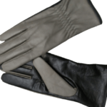 Grey leather gloves- INDIAN LEATHER MANUFACTURER