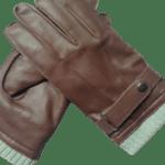 Black leather gloves- INDIAN LEATHER MANUFACTURER