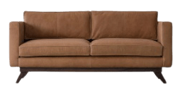 BEIGE SOFA 2S- INDIAN LEATHER MANUFACTURER