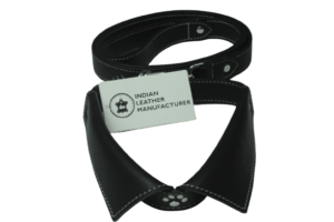 leather dog collar & leash- indian leather manufacturer